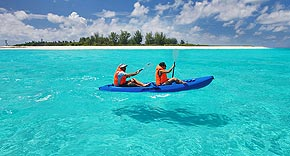 Kanu fahren, Bird Island Seychelles