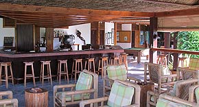 Restaurant auf Bird Island, Seychellen