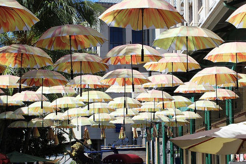 Regenschirmstrasse Port Louis