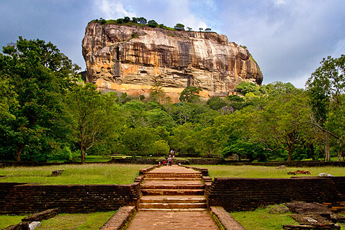 Löwenfelsen in Sigirya auf der Insel Sri Lanka