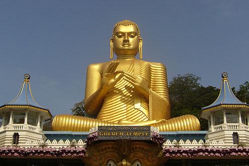 Tempelanlage in Kandy zu besichtigen auf einer Rundreise Sri Lank Ost
