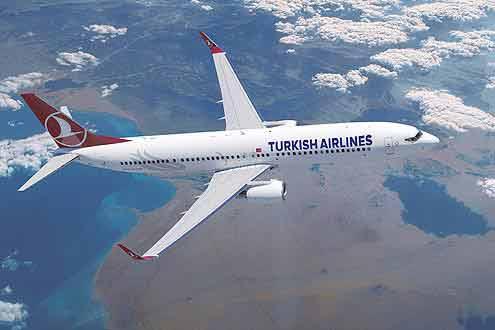 Turkish Airline mit Hauptsitz Istanbul, fliegt auf die Malediven, Mauritius und Seychellen