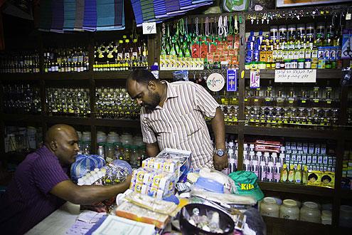Male einkaufen, Malediven