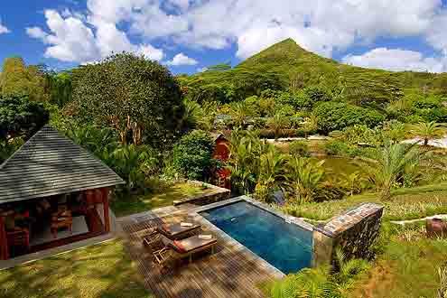 kleines Resort am Fusse des Le Morne, das Wahrzeichen von Mauritius