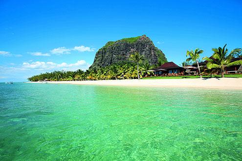 Der Berg Le Morne auf der Insel Mauritius