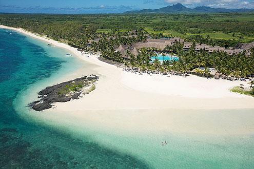 wunderschöner Strand im Osten von Mauritius, Hotel Lux Grand Gaube
