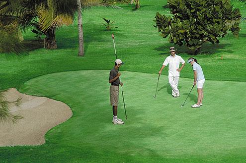 Golfanlage auf der Insel Mauritius