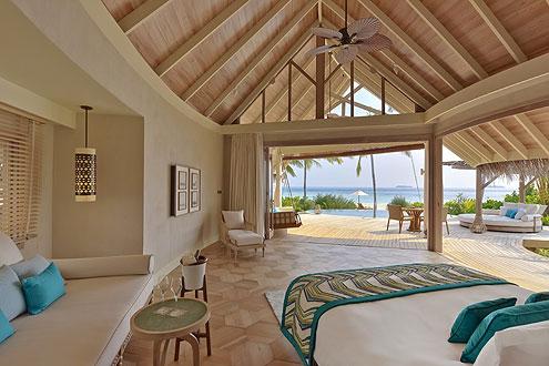 Beach Pool Villa auf der Insel Milaidhoo im Baa Atoll