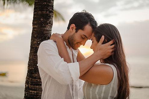 Wir sagen Ja zueinander, Hochzeitsarrangement auf der Insel Malediven, Mauritius oder Seychellen