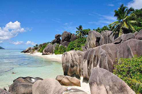 Anse Source d'Argen, beliebtes Ausflugsziel auf der Insel La Digue Seychellen