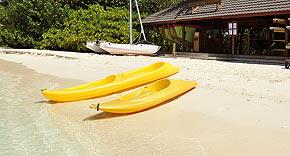 Wassersport auf der Insel Komandoo
