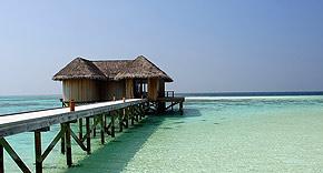 Restaurant Muraka auf der Insel Mirihi, Malediven