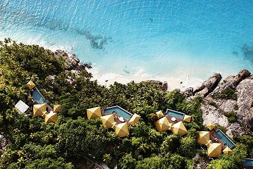einer der schönsten Resorts auf den Seychellen, Privatinsel, Helikoptertransfer