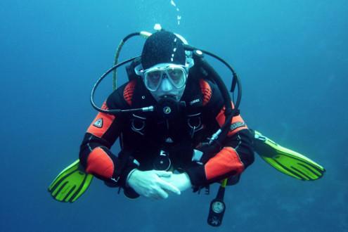 Taucher Malediven