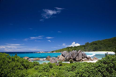 Anse Coco auf der Insel La Digue, Seychellen