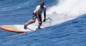 Surfen auf der Insel Ayada Maldives, Malediven