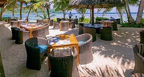 Windsong Beach Restaurant vom Kempinski Seychelles Resort & Spa, Seychellen