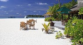 Restaurant Ilaafathi auf der Insel Banyan Tree Vabbinfaru, Malediven