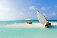 Sandbank Insel Baros, Malediven