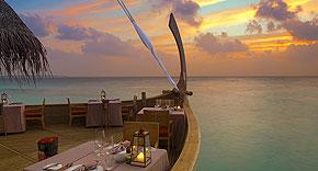 Restaurant Batheli auf Milaidhoo, Malediven
