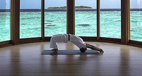 spa, meditation, yoga auf Milaidhoo, Malediven
