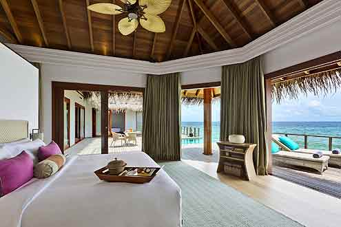 eine der schönsten Ausstattungen von einer Wasser Villa auf den Malediven