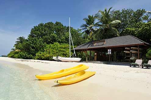 Kanu fahren ist beliebt auf den Malediven