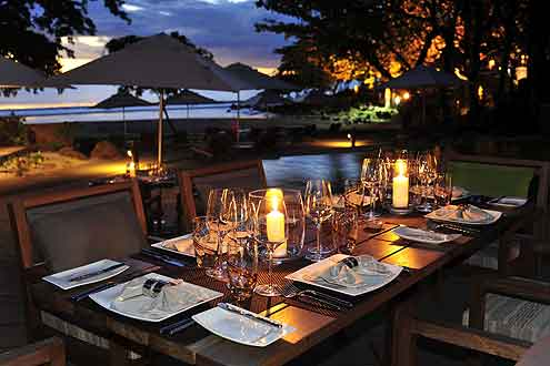 Restaurant beim Tamarina Golf & Spa Boutique Hotel Mauritius