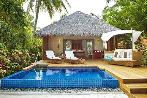 Baros Pool Villa auf der Insel Baros Maldives im Nord Male Atoll
