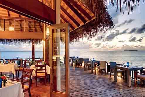 Restaurant Samsara auf der Insel Hideaway Beach Resort & Spa - Malediven